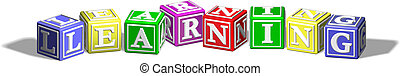 Learning alphabet blocks - Alphabet letter blocks forming...
