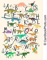 ABC Dinosaurs. - Learning Alphabets With Dinosaurs. ABC ...