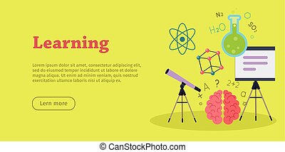 Learning Banner. Educational Concept. Laboratory - Learning...