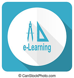learning blue flat icon