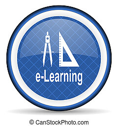 learning blue icon