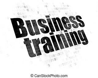 Learning concept: Business Training on Digital background