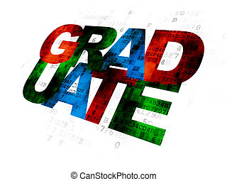 Learning concept: Graduate on Digital background