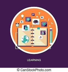 learning concept illustration in flat design