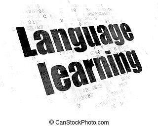 Learning concept: Language Learning on Digital background