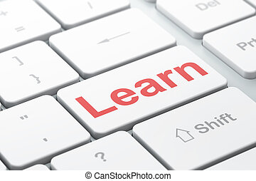 Learning concept: Learn on computer keyboard background