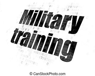 Learning concept: Military Training on Digital background