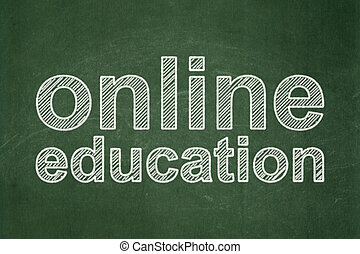 Learning concept: Online Education on chalkboard background