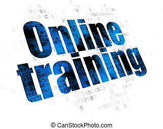 Learning concept: Online Training on Digital background
