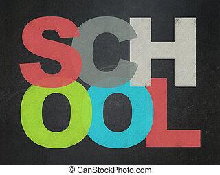 Learning concept: School on School Board background