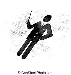 Learning concept: Teacher on Digital background