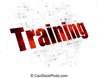 Learning concept: Training on Digital background