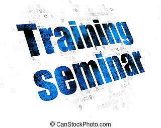 Learning concept: Training Seminar on Digital background