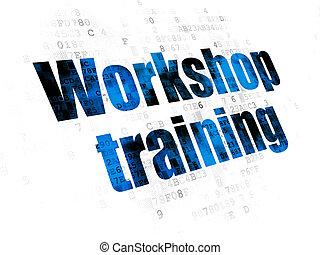 Learning concept: Workshop Training on Digital background