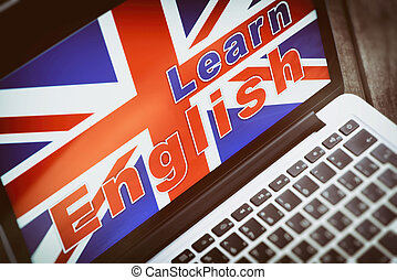 learning english online concept.