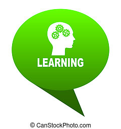 learning green bubble icon