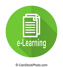 learning green flat icon