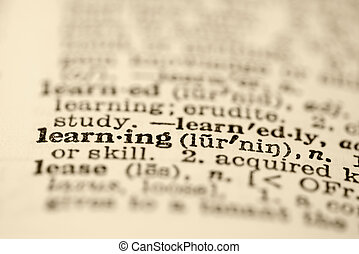 Learning in dictionary. - Selective focus of dictionary...