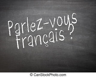 Learning language - French. Learning French language concept...