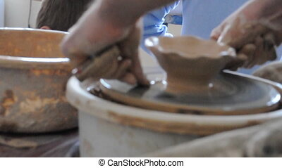 learning pottery producing
