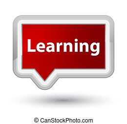 Learning prime red banner button