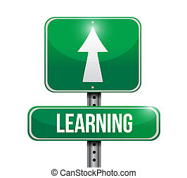 learning road sign illustration design