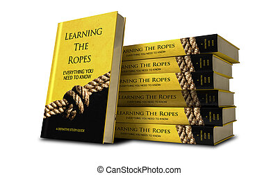 Learning The Ropes Study Guide Stack - A stack of books of a...