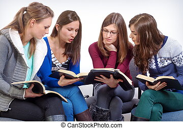 Learning time - Women team learn truth from the Bible