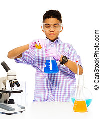 Learning to mix chemicals