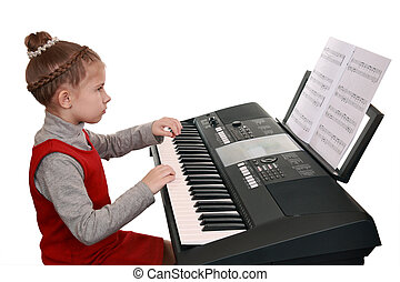 Learning to play on a digital synthesizer