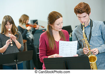 Learning to play the sax