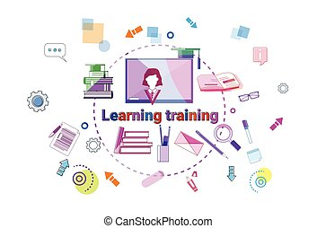 Learning Training Courses Banner Online Education Elearning Concept