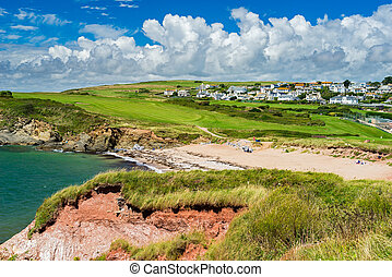 Leas Foot Sands Beach Thurlestone Devon England -...