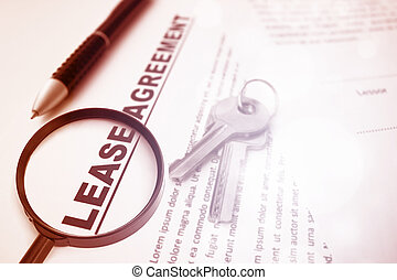 Lease Agreement, For Real Estate Concept Background