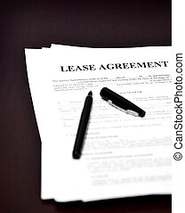 Lease Agreement on Desk