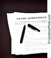 Lease Agreement on Desk