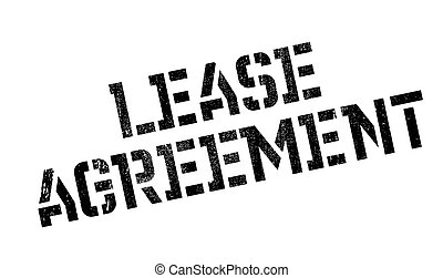 Lease Agreement rubber stamp. Grunge design with dust...