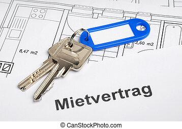 Lease and keys on blueprints