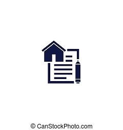 lease contract icon, eps 10 file, easy to edit