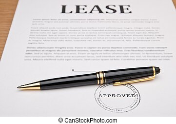 Lease Contract - Lease contract and pen. The image suggests...