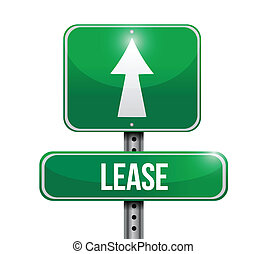 lease road sign illustration design