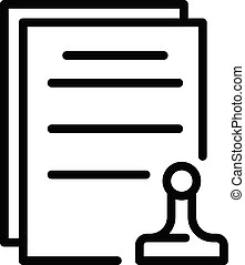 Leasing final documents icon. Outline leasing final documents vector icon for web design isolated on white background