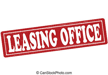 Leasing office - Stamp with text leasing office inside,...