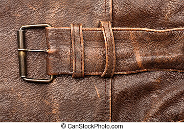 Leather and buckle