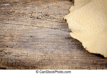 Leather And Wood Background