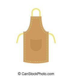 Leather apron icon, flat style