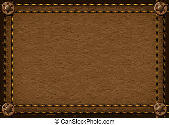 leather background - Leather background with rivets for your...