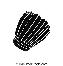 Leather baseball glove black simple icon