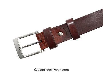 Leather Belt On White