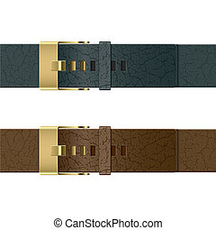 Vector illustration of a leather belts